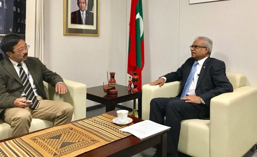 Foreign Minister Asim gives an interview to Asahi Shimbun