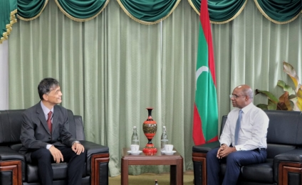 Resident Representative of JICA to the Maldives, Mr. Saito Hiroshi pays a farewell call on Foreign Minister