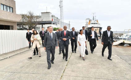 President visits Maritime Disaster Prevention Centre in Japan